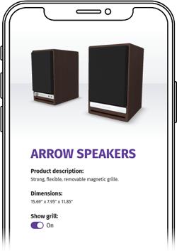 Mobile preview of ATLATL's Arrow Speakers demo